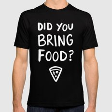 Where's the pizza? Mens Fitted Tee MEDIUM Black