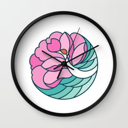 Chinese Style Icon:Crane and Flower Wall Clock
