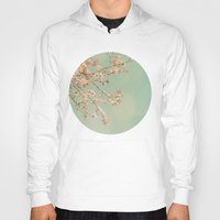cherry blossoms Hoodies featuring Cherry Blossoms by happeemonkee