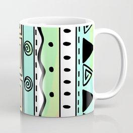 Tribal Doodle Earth Rocks Mountians Coffee Mug