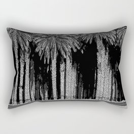 Black & White Date Palms Yuma Pencil Drawing Photo Rectangular Pillow