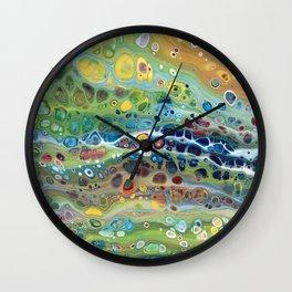 Rainbow Pebbles Acrylic Abstract Wall Clock