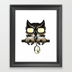 Gaming Owl Framed Art Print