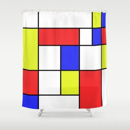 Mondrian #23 Shower Curtain