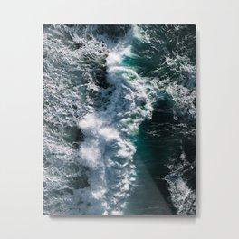 Crashing ocean waves - Ireland's seascapes at sunset Metal Print