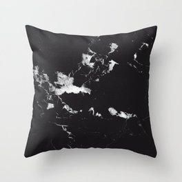 Black Marble #1 #decor #art #society6 Throw Pillow