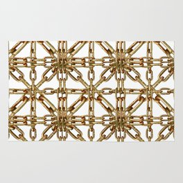 Chain Pattern Collage Rug