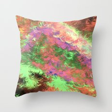 A Rainbow of Feathers Throw Pillow