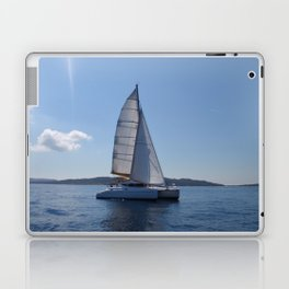 Catamaran In The Mediterranean Laptop & iPad Skin