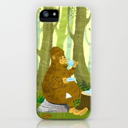 Bigfoot Busted iPhone Case