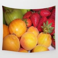 fruits Wall Tapestries featuring Fruits by EnelBosqueEncantado