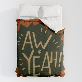 Aw Yeah! // Red and Black Comforters