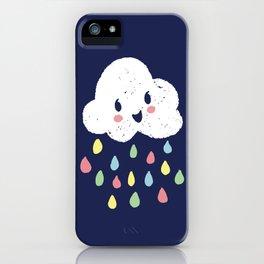 Rainbow Rain - Night Time iPhone Case