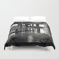 welcome Duvet Covers featuring Welcome by Robin Curtiss