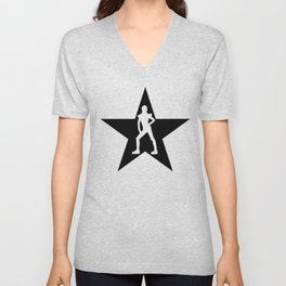 Bowie Ziggy Blackstar Unisex V-Neck