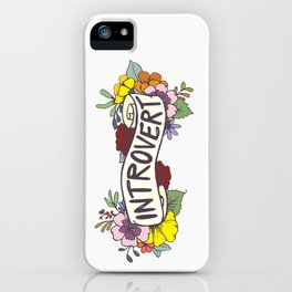 Floral Introvert Banner iPhone Case