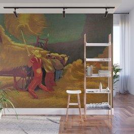 Classical Masterpiece 'Race Against the Rain' by Bernard J. Steffen Wall Mural
