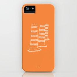 Montreal - Cones oranges - White iPhone Case