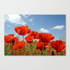 Fields of Poppy Happiness Canvas Print