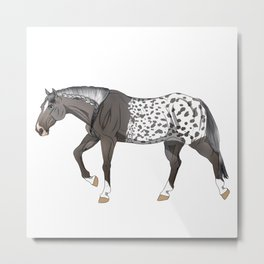 Grulla Extreme Blanket Appaloosa Horse Metal Print