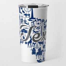 Rice -Texas Landmark State - Gray and Blue Rice University Theme Travel Mug