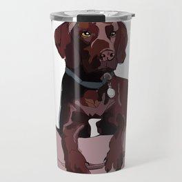 Chocolate Labrador Travel Mug