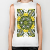 marc johns Biker Tanks featuring Kaleidoscope of showy St Johns Wort  by Wendy Townrow