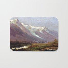 Albert Bierstadt Study of Mountains Bath Mat