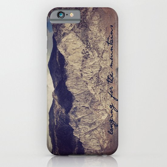 longing for the mountains iPhone & iPod Case