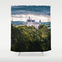 Castle on the Hill (Color) Shower Curtain