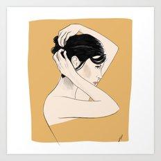 La delicatesse - Delicacy - portrait of french actress Audrey Tatou Art Print