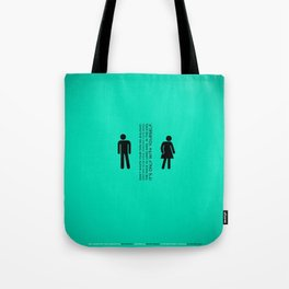Sunscreen / Don't waste your time on jealousy Tote Bag