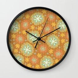 Kantha floral 2 Wall Clock