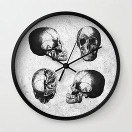 Vintage Medical Engravings of a Human Skull Wall Clock