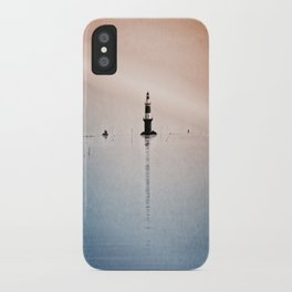 Fishing Near The Lighthouse iPhone Case