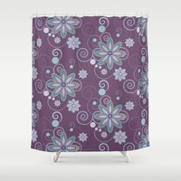 brooklyn Shower Curtains featuring Brooklyn by HollyPop Designs