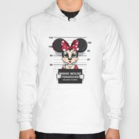 minnie mouse Hoodies featuring Bad Guys / Minnie Mouse by mebz art