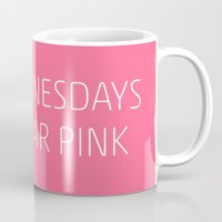 mean girls Mugs featuring Mean Girls #8 – Pink by Enyalie