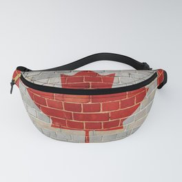 Canada flag on a brick wall Fanny Pack