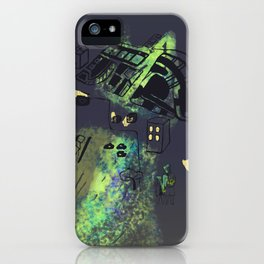 hungry cats - Nighttime iPhone Case