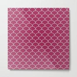 Pink scalops Metal Print