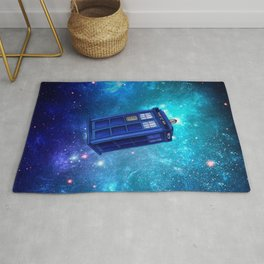 Blue phone booth in Doctor Who Rug