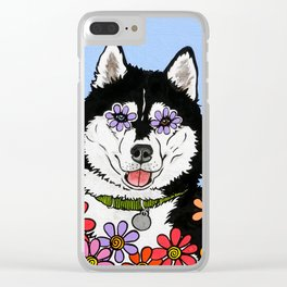 Summit the Husky Clear iPhone Case