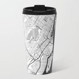 Montreal Map Gray Travel Mug