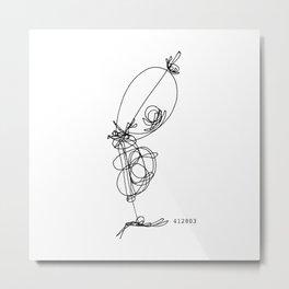 Floater Metal Print