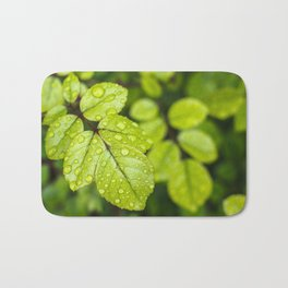 Plant Patterns - Green Scene Bath Mat