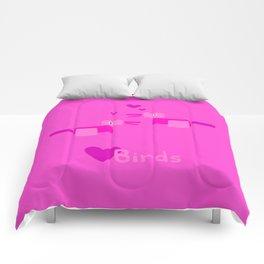 Love Birds-Pink Comforters