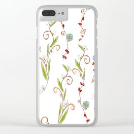 Flower vines Clear iPhone Case