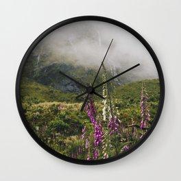 Foxglove Fog Wall Clock