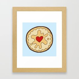 Jammy Dodger British Biscuit Framed Art Print